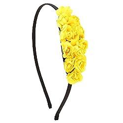 Sun Shine Yellow Paper Flower Hair Band For Girls/Kids