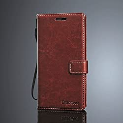 Bracevor OnePlus 2 (Oneplus two) Premium Leather Wallet Stand Case Flip Cover - Executive Brown