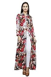 Front Slit Multi Colour Printed Rayon Kurta & Jegging Set