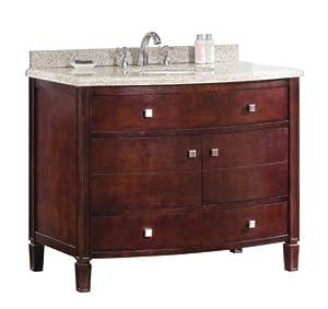Ove Georgia 42 Bathroom 42 Inch Vanity Ensemble With Sandy Granite Countertop And Ceramic Basin