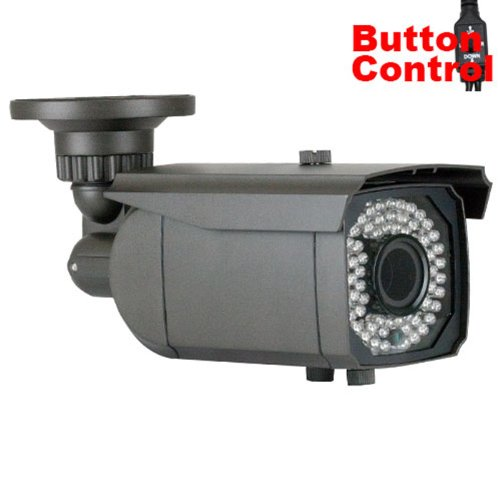 Gw Security Inc Gw400Whd 1/3-Inch Color Sony Cmos Camera, 1000 Tv Lines, 2.8 To 12Mm Manual Varifocal Lens, 64 Leds, 147-Feet Ir (Colorful)
