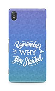 AMEZ remember why you started Back Cover For Sony Xperia Z3