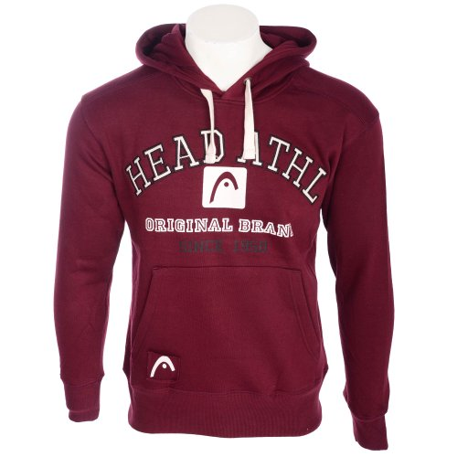 Head Men's Burgundy Logo Hooded Fleece Sweatshirt in Size Large