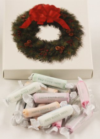 Scott's Cakes Assorted Salt Water Taffy in a 1 Pound Wreath Box (Salt Water Taffy Gift Box compare prices)