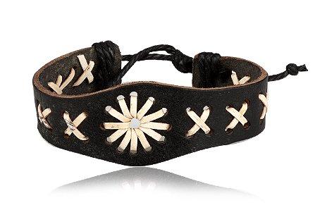 Fashion Weave Dark Brown & Light Brown Leather Wrap Cuff Bracelet Bangle Men's Jewelry