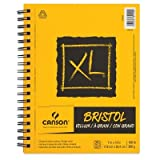 Canson XL Series Bristol Pad, Heavyweight Paper for Ink, Marker or Pencil, Smooth Finish, Fold Over, 100 Pound, 14 x 17 Inch, Bright White, 25 Sheets (Tamaño: 9