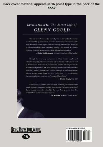 The Secret Life of Glenn Gould: A Genius in Love (Large Print 16pt)