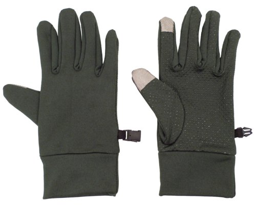 Men??S Phone Touch Winter Gloves, Charcoal front-1030951