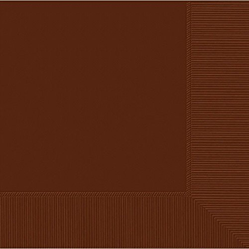 Weddingstar-Luncheon-Size-Napkins-Chocolate-Brown-50-Pack