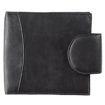 Daxx Tab Closure Leather CD Holder