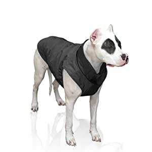 Scooter's Friends Puffy Dog Coat, Size 10, Black Matte