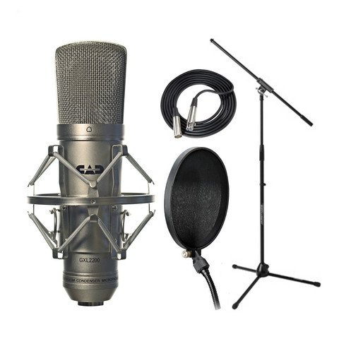 Cad Gxl2200 Mic Set Shockmount Cable Jamstand Filter