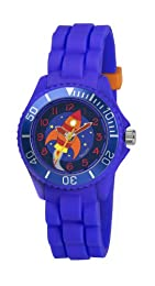 Children's Tikkers Boys Blue Rocket Design Watch Silicone Strap TK0045