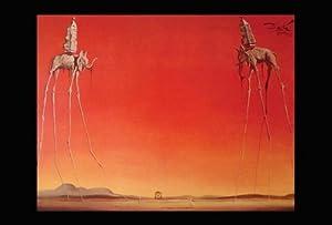 Salvador Dali-Les Elephants, Art Poster Print, 24 by 36-Inch