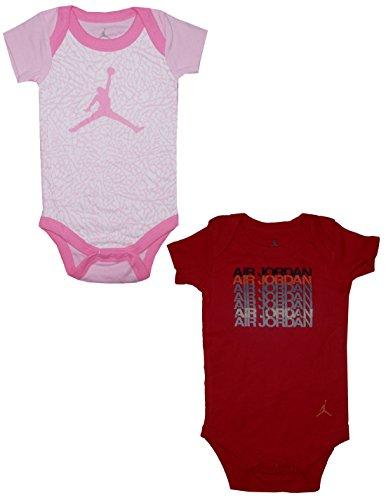 (Pack Of 2) Air Jordan By Michael Jordan Baby Girls One-Piece Romper 0-6M Multicolor front-326501