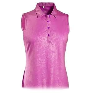 Monterey club ladies plus size dry swing for Plus size sleeveless golf shirts
