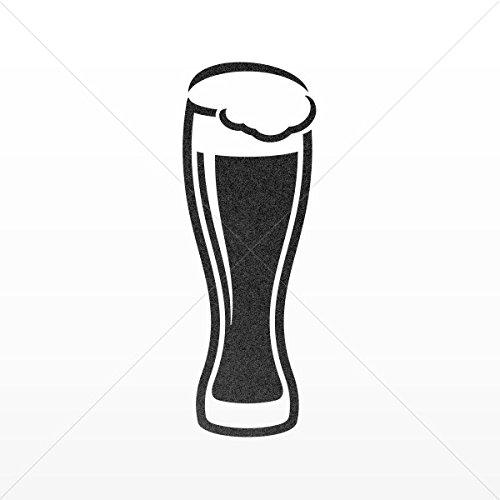 Decal Stickers Glass Of Beer Decoration Motorbike Bicycle Vehicle Atv Mettalic Black (10 X 3.56 In)