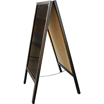 Sidewalk A-Frame Mahogany Sandwich Board Sign