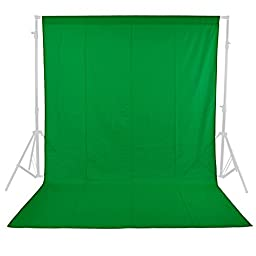 Neewer 6x9 feet/1.8x2.8 meters Photo Studio 100 Percent Pure Muslin Collapsible Backdrop Background for Photography, Video and Television (Background Only)-Green.