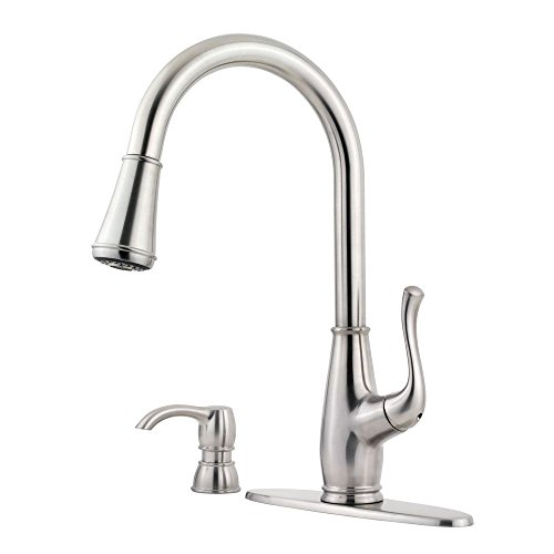 Pfister F5297SWS Sedgwick 1-Handle Pull-Down Kitchen Faucet with Soap Dispenser, Stainless Steel (Pfister Sedgwick Faucet compare prices)