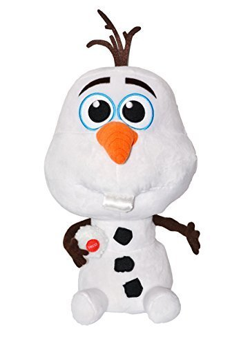 "Disney Exclusive. Press Button Plush Olaf ""Baby"" Snowman Saying ""I Love You"". Total 14"" Tall. Japan Import. - 1"