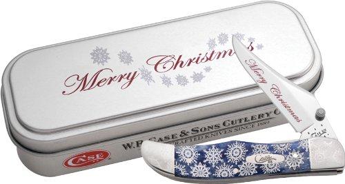 Case XX Knives 10530 Christmas Mid Folding Hunter Linerlock Knife ...