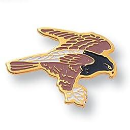 Hawk Mascot Lapel Pin -Pack of 12