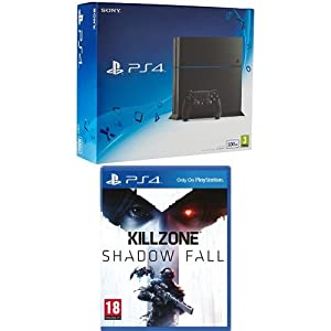 Playstation 4 500GB Jet Black with Killzone: Shadow Fall