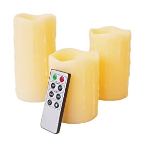 Frostfire Mooncandles Vanilla Scented Dripping Wax Candles with Remote Control, 4inch/ 5inch/ 6inch   recensioni dei clienti