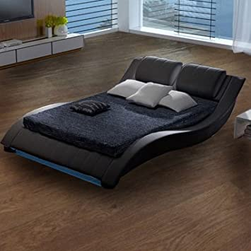 Muebles Bonitos - Cama Bilbao negro-180x200cm (Varias medidas disponibles)
