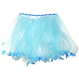 Wrapables Princess Fairy Tutu Dress-Up Skirt - Blue