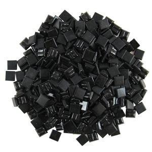 Jennifer's Mosaics 3/8-Inch Venetian Style Glass Mosaic Tile, Black, 8-Ounce from Diamond Tech International