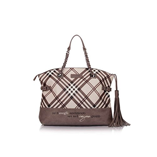 "Shopper Le Pandorine Tartan ""Giusto"" AI16DAD01933-01 brown"