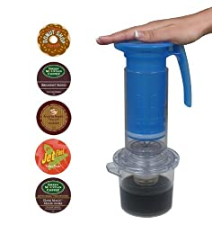 Cafejo My French-Press with K-Cup Pod and Ground Coffee Adaptors Plus, Top 5 Best Selling K-Cups by AquaBrew, Inc. DBA Caféjo