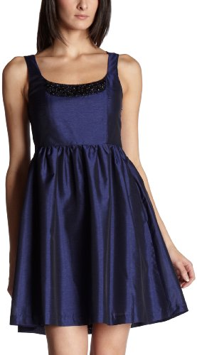 Kensie Women's Shantung Dress,Blueberry Mix,X-Small