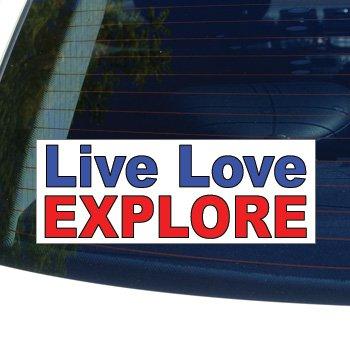 LIVE LOVE EXPLORE - rock climbing hiking - Window Bumper Laptop Sticker