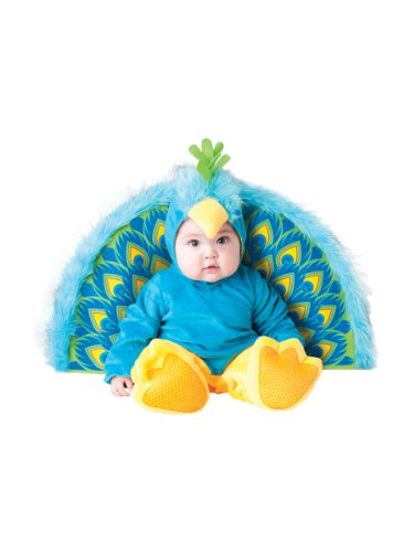 InCharacter Costumes Baby's Precious Peacock Costume, Blue/Yellow, Large