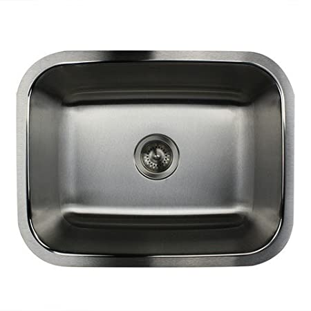 Nantucket Sinks NS2318-16 23-Inch Small Rectangle Single Bowl Stainless Steel Undermount Kitchen Sink