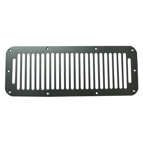 Rugged Ridge 11206.01 Black Cowl Vent Cover front-735898