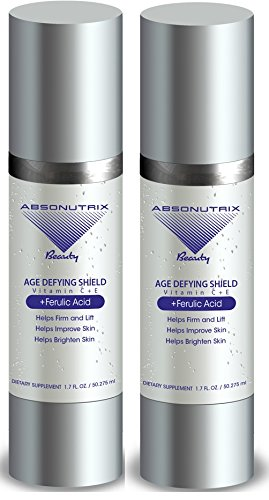 2 Bottles: Absonutrix Age Defying Shield Vitamin C And E Ferulic Acid 1.7Oz For Youthful Radiant Skin