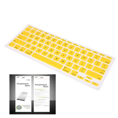 "Smart Tech ® Ultra Thin Silicone Keyboard Cover Skin For Apple Macbook Air 11.6""(Model:A1370 And A1465) (Keyboard Cove+Yellow)"