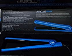 ABSOLUTHEAT IPS Intelligent Professional Series 1 1/4 Inch Hair Flat Iron Ionic (Blue)