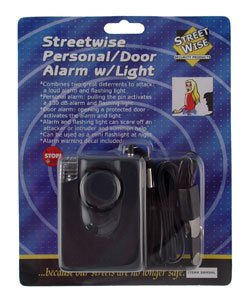 New Streetwise Personal/Door Alarm W/ Light Purse Briefcase Backpack Laptop Computer Alarm