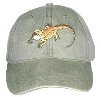 Bearded Dragon Embroidered Cotton Cap