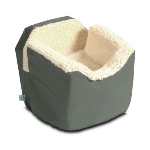 Snoozer Lookout I Pet Car Seat, Medium, Grey Vinyl