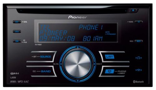 Pioneer FH-P80BT Double-Din Bluetooth Tuner with USB-in and iPod Direct Control