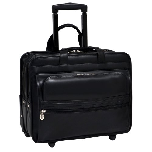 McKleinUSA-CHATHAM-86865C-Black-Wheeled-17-Double-Compartment-Laptop-Case