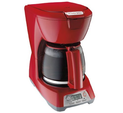 43673 12 Cup Programmable Coffeemaker, Red - Proctor-Silex