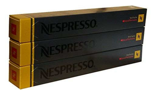 Nespresso Capsules - Volluto Decaffeinato - 30 Capsules, 3 Sleeves - New Decaf variety
