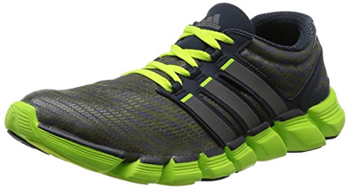 adidas, Adipure Crazy Quick , Scarpe sportive, Uomo, Multicolore (Night Shade F13 / Carbon Met. S14 / Solar Slime), 44